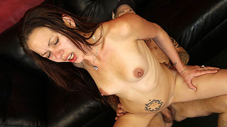 Bailey Rae Rides a Massive Cock Deep In Her Pussy